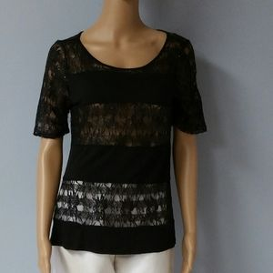 The Limited Black lace/sequine blouse. Size Small